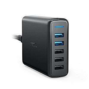 Anker 63W 5-Port USB Wall Charger with Dual Quick Charge 3.0 Ports £19.12 with code @ Amazon (RRP £29.99)