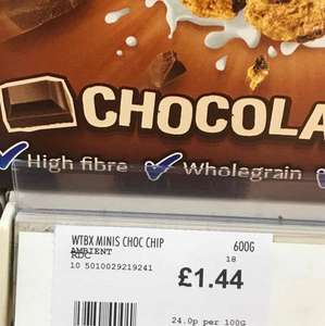 Weetabix Chocolate chip minis. Less than half price at Scotmid/Coop - £1.44
