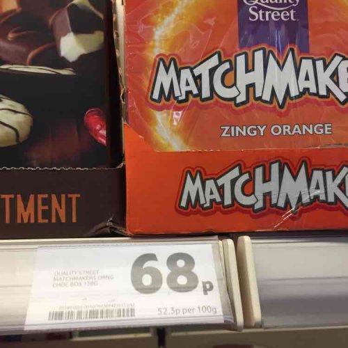 zingy orange matchmakers 68p instore Tesco