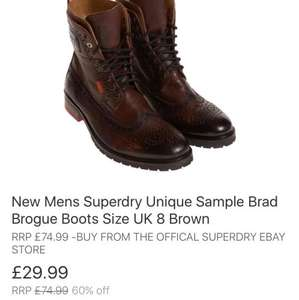Superdry Brad brogue size 8 £29.99 eBay superdry store