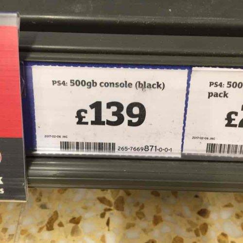 PS4 500gb black £139 in store at sainsburys - Ashford