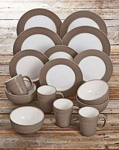 DENBY 16 PIECE INTRO DINNER SET MOCHA was £45.00 SAVE £19.00 NOW £26.00 plus £3.95 delivery £29.95 online JD Williams