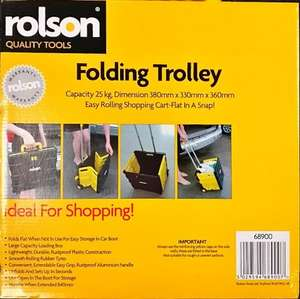Rolson Folding Trolley Reduced £8 @ Morrisons