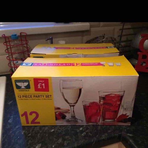 12 piece Ravenhead glass set £1.00 Instore Leekes