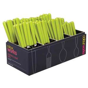 KitchenCraft Colour Works Cutlery in Green £1 @ Leekes - Free c&c