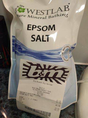 Westlab 1kg Epsom Salts £1.79 @ B & M
