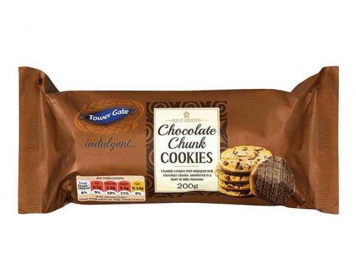 Lidl TOWER GATE Half Coated Cookies 2 varieties 200g 49p this weekend usually 99p