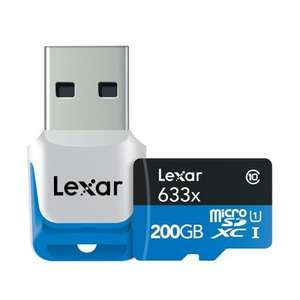 Lexar 200GB 633x High Performance Micro SDXC UHS-I U1 Card £69.99 Del @ MyMemory