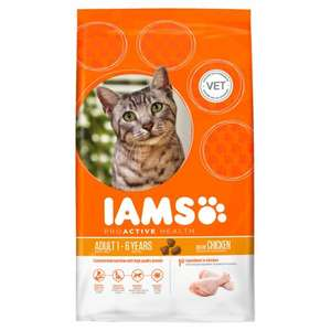 Iams Adult -  Chicken Dry Cat Food - 3kg £7.59 Delivered @ Petshop