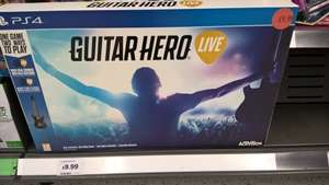 guitar hero live ps4 £9.99 in store Sainsbury's