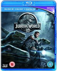 Jurassic World 3D - £3.99 - (or £3.75 with topcashback) : Blu-ray / 3D Edition with 2D Edition @ Music magpie