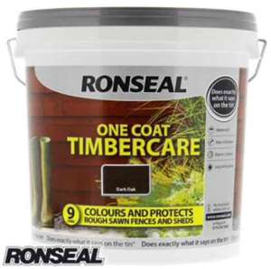 Ronseal one coat timbercare 9L only £5.99 @ home bargains free C&C