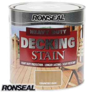Ronseal Heavy Duty Decking Stain: Country Oak 2.5L incredible price of only £8.99 @ home bargains free C&C £18 elsewhere