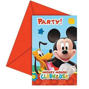 Amscan Playful Mickey Invites/ Envelopes Party Accessory @ Amazon (Add on Item) - 46p