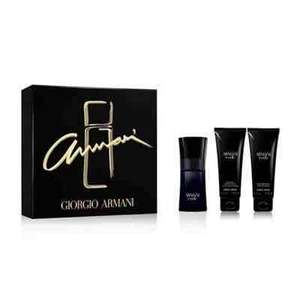 Armani Code Homme men's aftershave gift set (50ml) £33 plus get an extra 10% off if you spend £50 plus get a £5 voucher if you click and collect at Debenhams