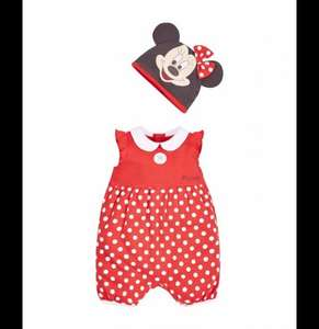 Mothercare | Disney Minnie Mouse Romper with Hat