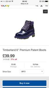 Girls/ladies purple timberland boots with extra £10 off when spend £30+ @ Littlewoods ebay