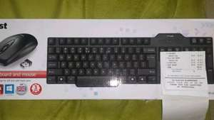 Trust wireless keyboard & mouse £3 instore @ Morrisons (Holyhead)