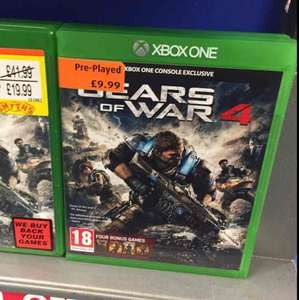 Gears 4 £9.99 / MGS5 £4.99 / Division £9.99 preowned @ Smyths