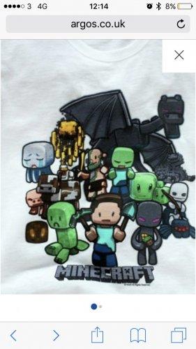 Kids minecraft T shirt @ Argos was £8.99 now £3.99