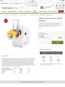 Tefal white mince & shred express - £28.44 @ Waitrose Kitchen