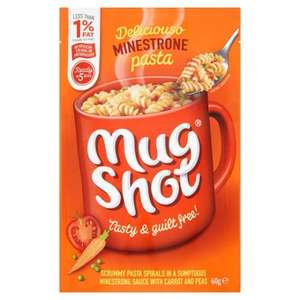 Mugshot Minestrone Pasta 60g was 80p now 40p @ Tesco