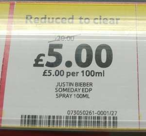 Justin Bieber - Someday 100ml - £5 instore @ Tesco