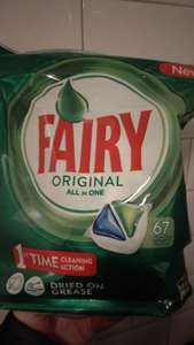 Fairy Dishwasher Tabs 67 £5 or Finish Power ball 110 £7 instore @ Poundland