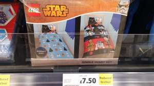 Lego Star Wars reversible single duvet instore Tesco Banbridge £7.50