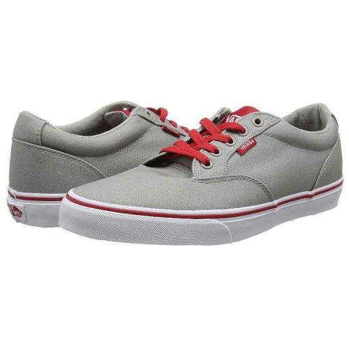 Vans Grey/Red - Size 6 - £15.00 Prime & Size 6.5 - £16.33 Prime at Amazon (+ £4.75 Delivery Non Prime)