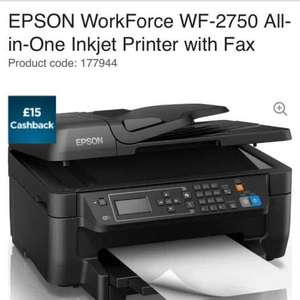 Epson all in one wifi printer from currys £59.99 but £15 cashback via Epson