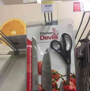 kitchen Devil's knife/scissors set £8 instore @ Tesco