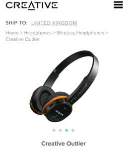 Creative Outlier wireless headphones £49.99 @ Creative