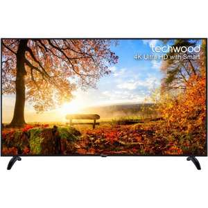 "AO.com - Techwood 65AO4USB 65"" Freeview HD and Freeview Play Smart 4K Ultra HD TV - Black - £579.99 with code WEEKEND20"