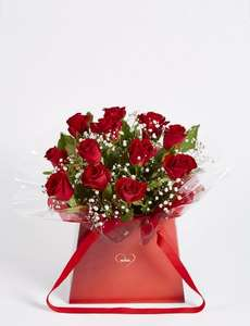 Be Mine Gift Bag 12 Red Roses Marks & Spencer £20.00 After Discount