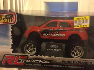 New Bright 1:16 Ford F-250 Remote Control Truck Red / Ford Explorer RC Car Blue Was £30 Now £7.50 @ Tesco instore