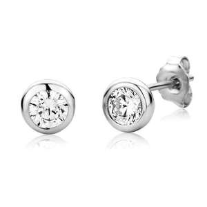 Buy a pair of Sterling Silver Zirconia Stud Earrings & get a another pair of earrings for free - £14.39 (Prime or add £3.99 non Prime) @ Amazon