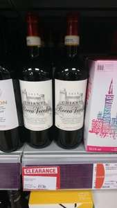 lots of wine reduced to clear £1.50 instore co-op (Edinburgh)