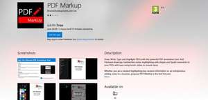 PDF Markup For Windows 10 Currently Free @ MS Store - Usually £4.99