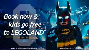 Kids go free legoland and 25 merlin attractions chessington alton towers warwick castle sea life ect when buying batman lego movie tickets at odeon cinema online