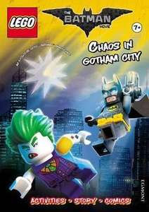 Activity Book with Exclusive Batman Minifigure £3.49  (RRP £6.99) delivered free at Bookdepostory