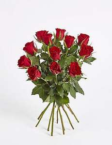 10 Red Roses - Valentines Flowers - Tesco - Instore - £3.00