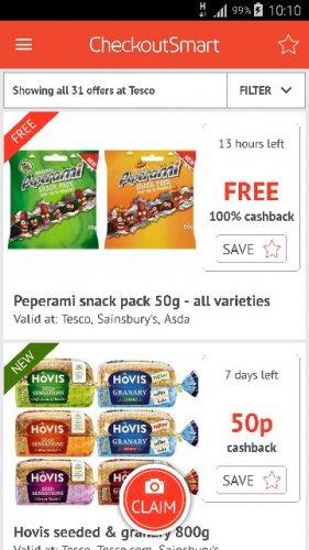 peperami snack pack 50g rrp £1 free via checkoutsmart at Asda, Tesco or Sainsbury's