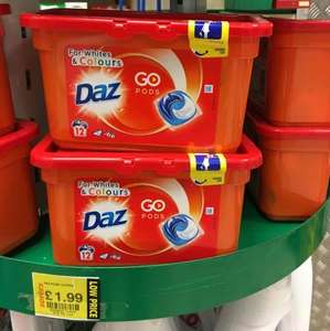 Daz Go Pods - Bio Washing Capsules for washing clothes / laundry - 12 Washes for £1.99 at Savers