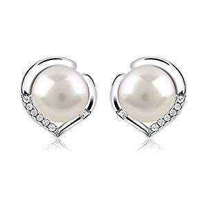 B.Catcher 925 Sterling Silver Freshwater 10mm Pearl Studs Earrings £9.99 was £59.99 Amazon lighting deal @ Sold by yaomer-eu and Fulfilled by Amazon