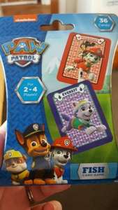 "Paw Patrol ""Go Fish"" card game 79p in Home Bargains"