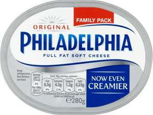 Philadelphia Soft Cheese - Original / Lighter (280g) Family Pack was £2.40 now £1.20 @ Tesco