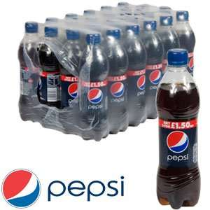 Pespi/Diet Pepsi/Pepsi Max 500mls 20p per bottle or case of 24 for £4.80 instore @ B&M