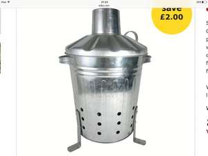 Wilko mini incinerator £8.00 (was £10)