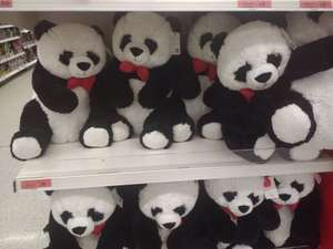 Instore. Sainsbury's 70% off valentine's range including giant cuddly panda!